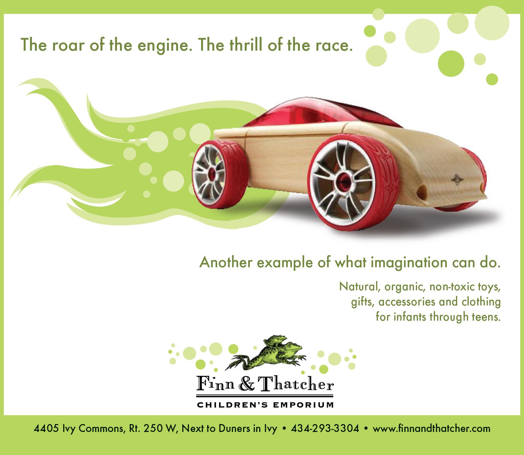 Newspaper Ad - Finn & Thatcher: Thrill Of The Race