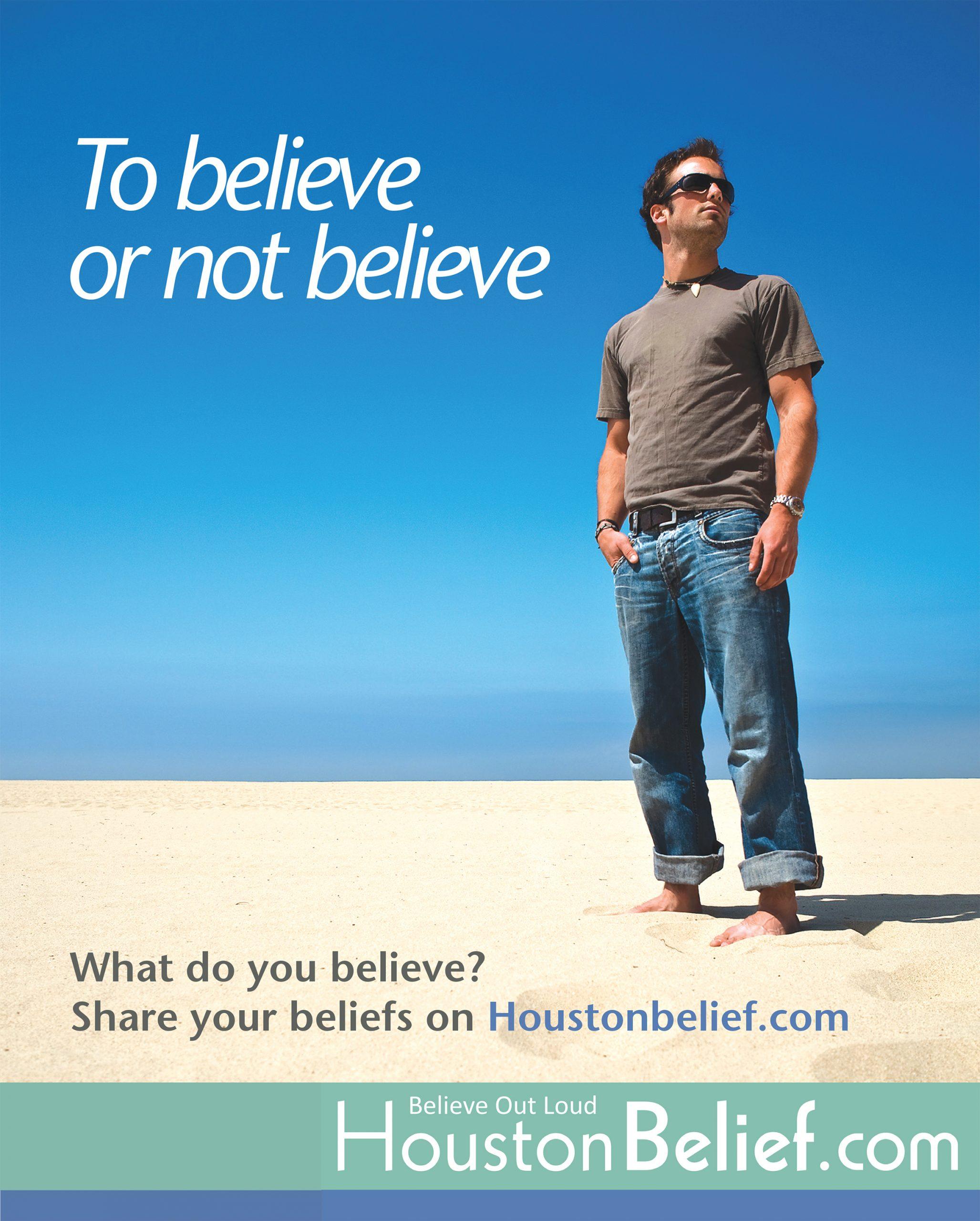 Newspaper Ad - Houston Chronicle HoustonBelief.com